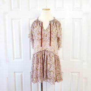 Forever 21 Floral Open Shoulder Prairie Dress NWT